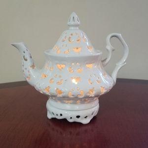 Vintage ceramic teapot candle votive